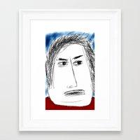 karl Framed Art Prints featuring Karl by Chicken Wolf