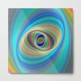 Hypnotic eye Metal Print