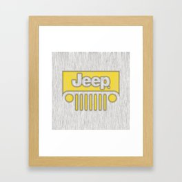 Jeep Style Chrome Framed Art Print
