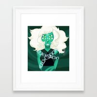 malachite Framed Art Prints featuring Malachite by Hazel Spade