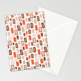 Retro Rectangles Stationery Cards