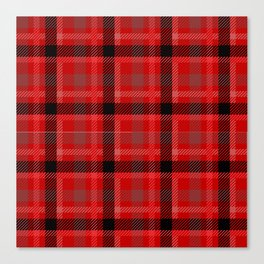 Red And Black Plaid Flannel Canvas Print
