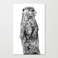 otter Canvas Prints featuring Otter by Meredith Mackworth-Praed