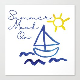 Summer Mood on Canvas Print