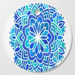 Mandala Iridescent Blue Green Cutting Board