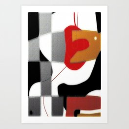 Abstract blocks Art Print