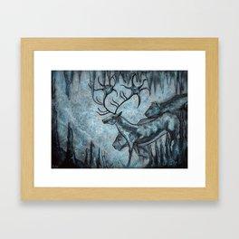 Crystal Cavern Procession Framed Art Print