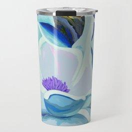 Blue Magnolia Travel Mug