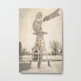 Eclipse Windmill Metal Print