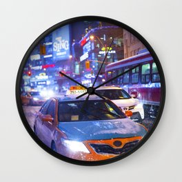 Yonge & Dundas - snow Wall Clock