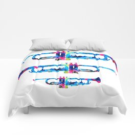 Colorful Trumpet 2 Art By Sharon Cummings Comforters