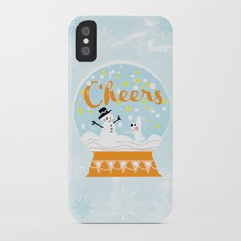 Snow globe friends iPhone Case