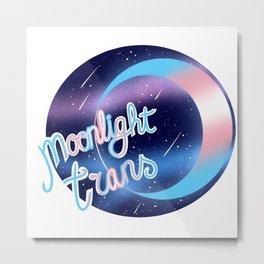 Trans Moonlight Pride Metal Print