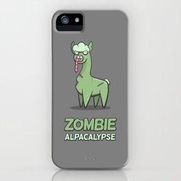 Zombie Alpacalypse iPhone Case