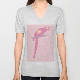 Pink Parot Unisex V-Neck
