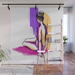 Colorful nude female figure Wall Mural