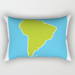South America map blue ocean and green continent. Vector illustration Rectangular Pillow