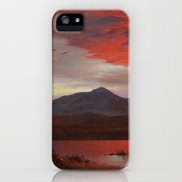 Frederic Edwin Church - Twilight - Hudson River School Oil Painting iPhone Case