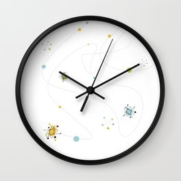 1950s / 1960s Mid Century Atomic Age Retro Pattern Wall Clock