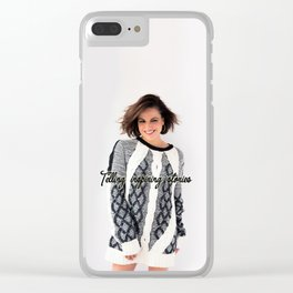 Telling inspiring stories Clear iPhone Case