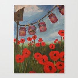 Hey Poppy! Canvas Print