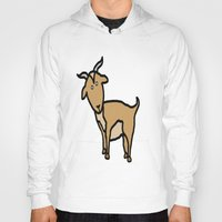 goat Hoodies featuring Goat by Luke Roach