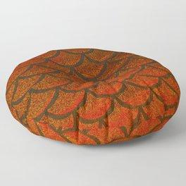 Bronze Brick Scales Floor Pillow