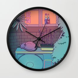 Ramune Cat Wall Clock