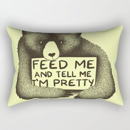 Feed Me And Tell Me I'm Pretty (Yellow) Rectangular Pillow