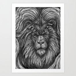 Lion Guardian Art Print