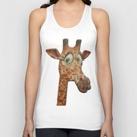 funky Tank Tops featuring funky giraffe by Ancello