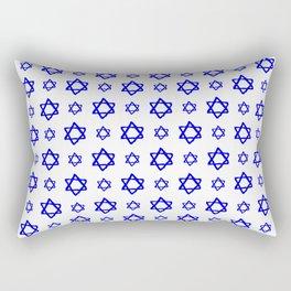 star of david 41 - blue Rectangular Pillow