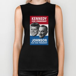 Kennedy And Johnson 1960 Election Biker Tank