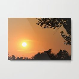 Golden Kansas Sunset Metal Print