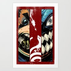 master of puppets fight scene Art Print