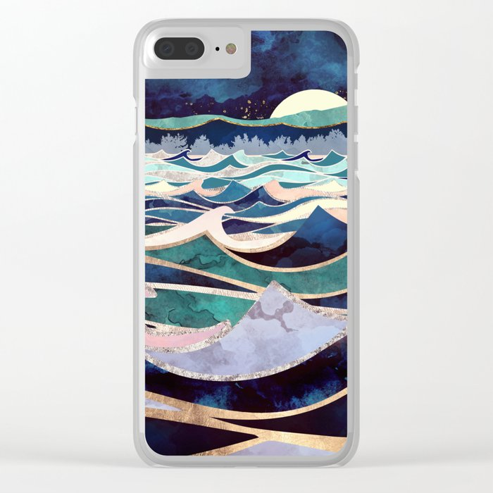 Moonlit Ocean Clear iPhone Case