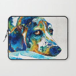 Colorful Beagle Dog Art By Sharon Cummings Laptop Sleeve