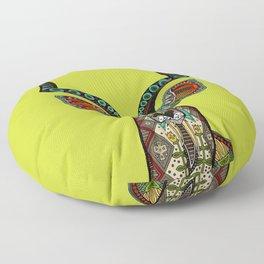 antelope chartreuse Floor Pillow