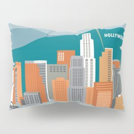 Los Angeles, California - Skyline Illustration by Loose Petals Pillow Sham
