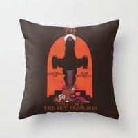 propaganda Throw Pillows featuring Browncoat Propaganda by Hillary White