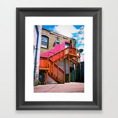 Alleyway architecture Framed Art Print
