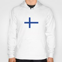 finland Hoodies featuring Finland country flag by tony tudor