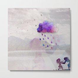 Enjoy the Rain Metal Print