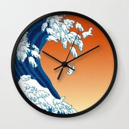 Llama Waves Wall Clock
