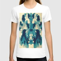 batik T-shirts featuring BATIK BLUE  by LA BOITE À POUE / Helene Favreau
