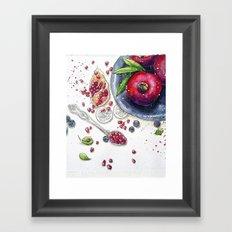 Fruits, fresh, art, illustration, love, nature, food, instagram, fashion Framed Art Print