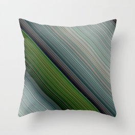 Decorative Colorful Green Blue Lines Design Throw Pillow
