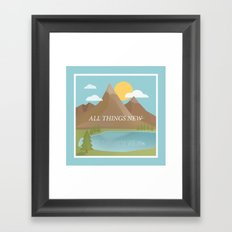 All Things New - blue (version 2) Framed Art Print