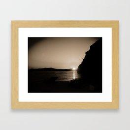 Sunset in Santorini Framed Art Print