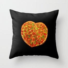 Pizza Heart Throw Pillow